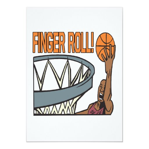 Finger Roll 5x7 Paper Invitation Card