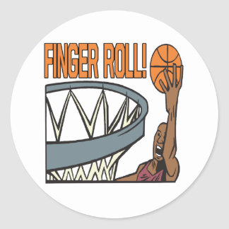 Finger Roll Classic Round Sticker
