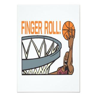 "Finger Roll 5"" X 7"" Invitation Card"