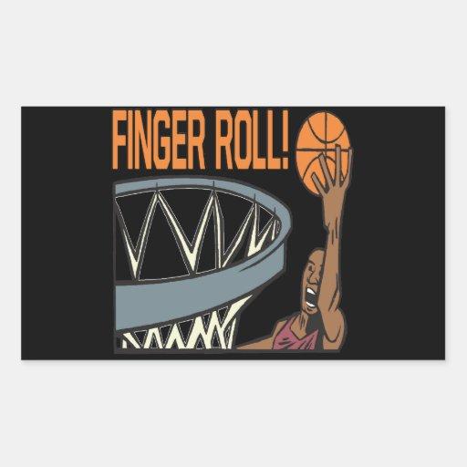 Finger Roll Rectangular Sticker