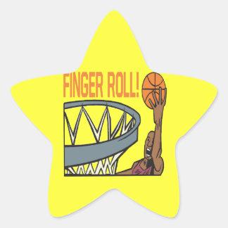 Finger Roll Star Sticker