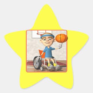 Finger Spin Star Sticker