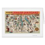 Fingerlakes, New York - Detailed Map Card