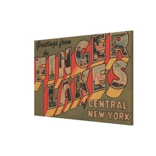 Fingerlakes, New York - Large Letter Scenes Canvas Print
