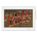 Fingerlakes, New York - Large Letter Scenes Greeting Card