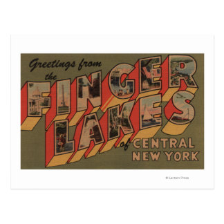 Fingerlakes, New York - Large Letter Scenes Postcard