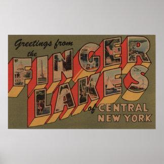 Fingerlakes, New York - Large Letter Scenes Poster
