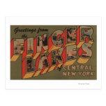 Fingerlakes, Nueva York - escenas grandes de la Postales