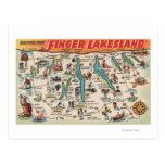 Fingerlakes, Nueva York - mapa detallado Postal