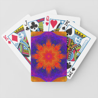 Fingerpaint Mandala Playing Cards
