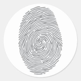 fingerprint2 pegatina redonda