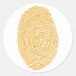 fingerprint3 round stickers