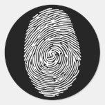 fingerprint4 etiquetas redondas