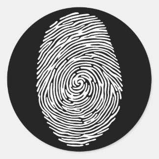 fingerprint4 pegatina redonda