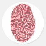 fingerprint5 round stickers