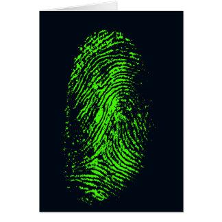 fingerprint-257038 BLACK NEON GREEN FINGERPRINT GR Card