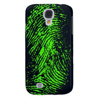 fingerprint-257038 BLACK NEON GREEN FINGERPRINT GR Galaxy S4 Case