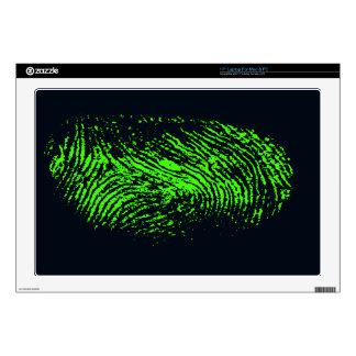 fingerprint-257038 BLACK NEON GREEN FINGERPRINT GR Laptop Decal