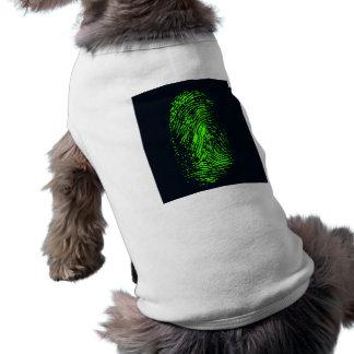 fingerprint-257038 BLACK NEON GREEN FINGERPRINT GR T-Shirt