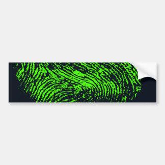 fingerprint-257038 HUELLA DACTILAR VERDE DE NEÓN N Etiqueta De Parachoque