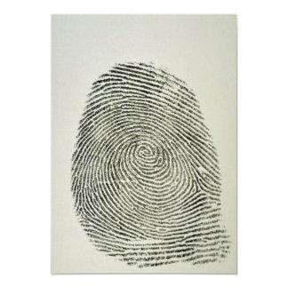 Fingerprint 5x7 Paper Invitation Card