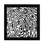 Fingerprint Background Jewelry Boxes