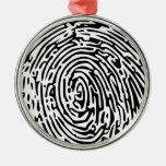 Fingerprint Background Ornaments