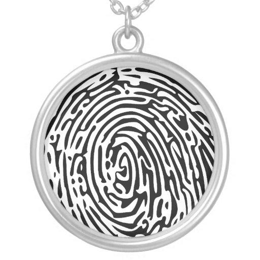 Fingerprint Background Pendants