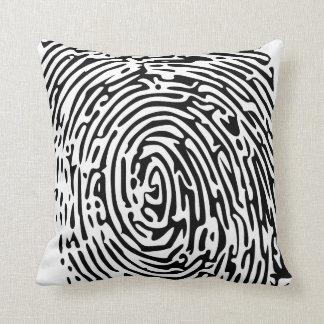 Fingerprint Background Throw Pillows