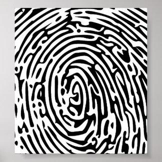Fingerprint Background Poster