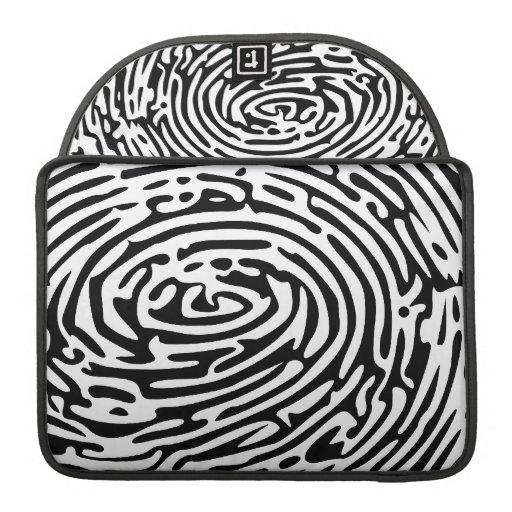 Fingerprint Background Sleeves For MacBook Pro