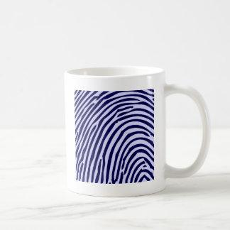 Fingerprint Blue Color Funny Photo Design Styles Coffee Mug