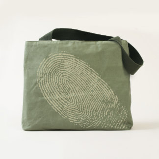 Fingerprint Canvas Utility Tote Bag