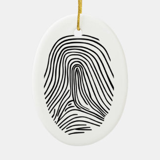 Fingerprint Ceramic Ornament