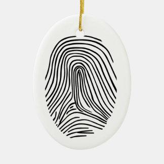 Fingerprint Ceramic Ornament