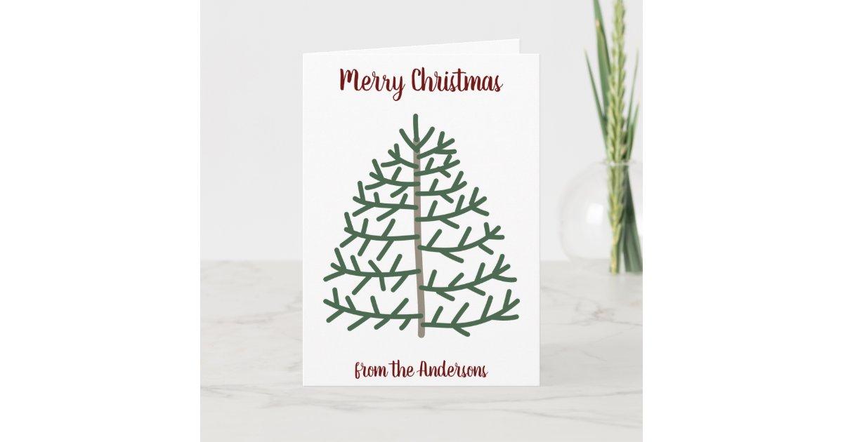 Fingerprint Christmas Tree Family