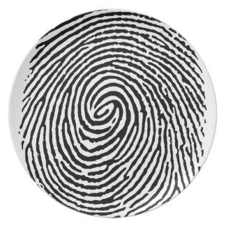 Fingerprint Dinner Plate