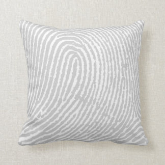 Fingerprint Gray Pillow