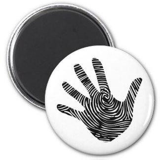 Fingerprint hand Identiy theme 2 Inch Round Magnet