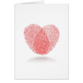 Fingerprint Heart Love Card