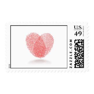 fingerprint heart Postage