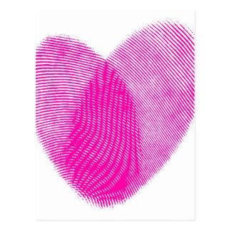Fingerprint Heart Post Cards