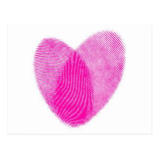 Fingerprint Heart Postcards