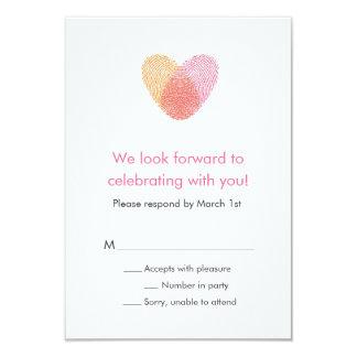 Fingerprint Heart Response Card Invitation
