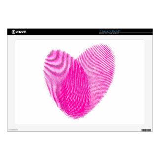 """Fingerprint Heart 17"""" Laptop Decals"""