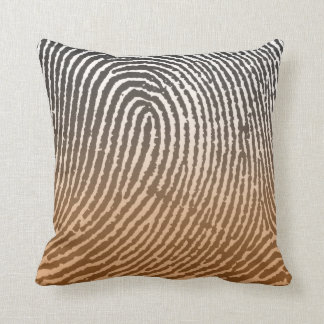 Fingerprint in Brown Pillows