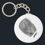 "Fingerprint Keychain<br><div class=""desc"">A realistic-looking fingerprint design</div>"