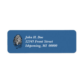 Fingerprint PI Lab Tech CSI Return Address Labels