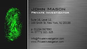 Private investigator business cards zazzle fingerprint private investigator business card colourmoves