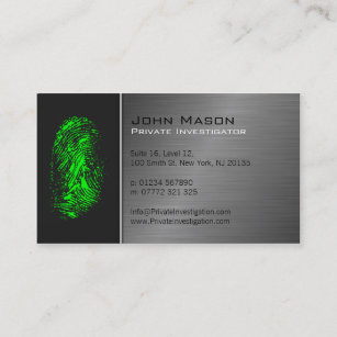 Private business cards templates zazzle fingerprint private investigator business card colourmoves